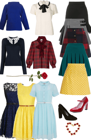 once upon a time: Belle French closet