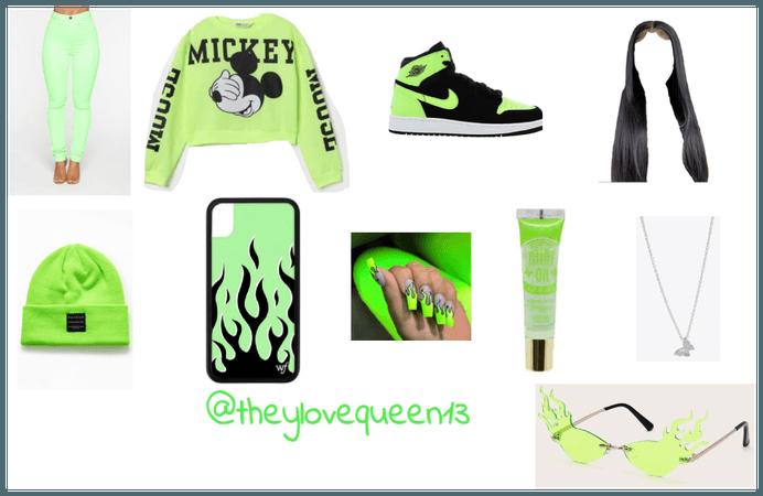 Neon green baddie