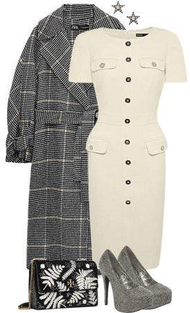 Professional Plaid Coat