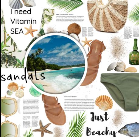 Tropical Sandal Vibes.