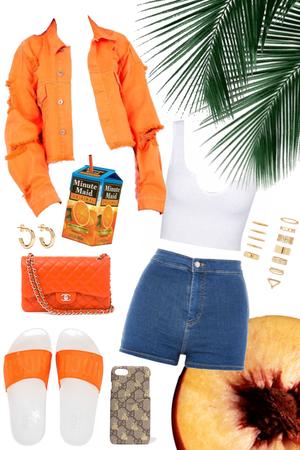 #orangedenim