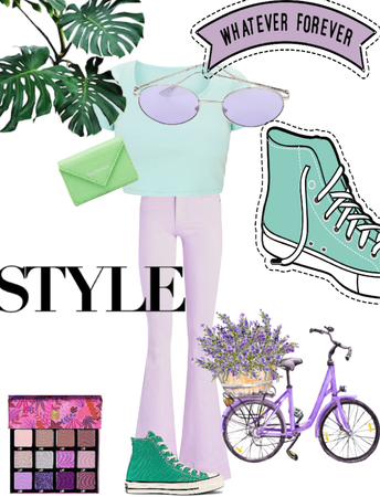 green and purple