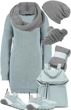 Aqua & Grey