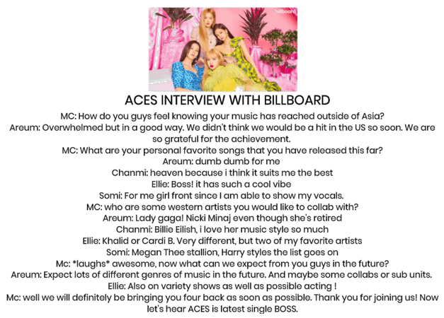[INTERVIEW] interview with billboard