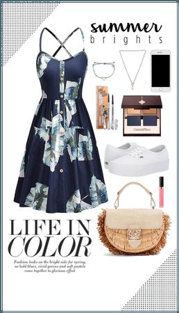 Summer brights dress