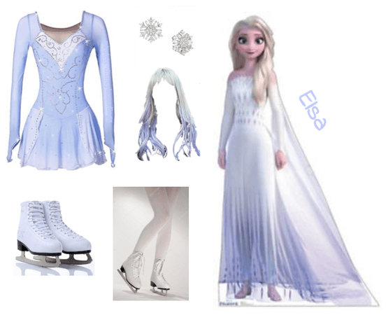 Ice skating outfit inspired by Elsa - Disneybound