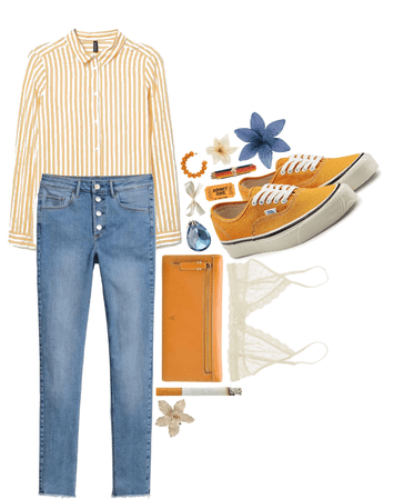 Orange + Cream + Blue
