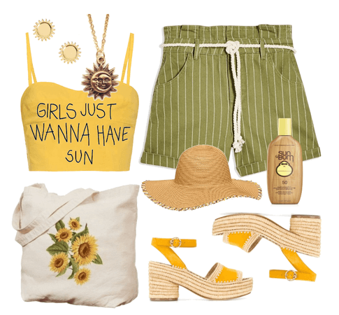 Sunflower Girl at the Beach