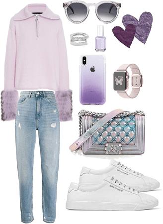 casual purple