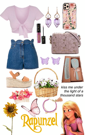 Rapunzel (denim shorts look)