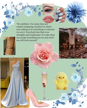 blue dress summer