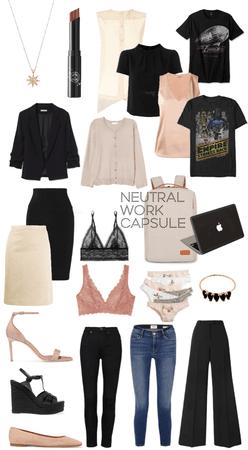 Neutral Work Capsule Wardrobe