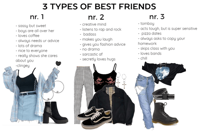 3 types of best friends