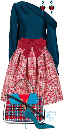 Red & Blue United (Curvy Girl Style)