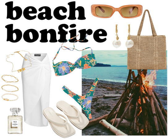Beach bonfire #beachbonfire