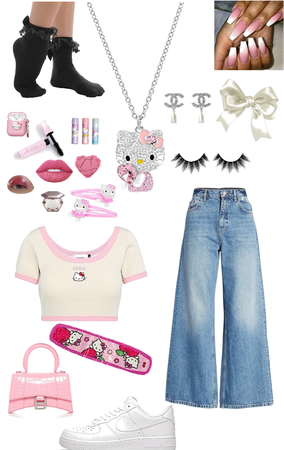 """Hello Kitty """"alt"""" """"indie"""" Based Outfit"""