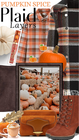 Pumpkin spice plaid