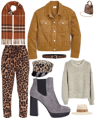falls leather and leopard
