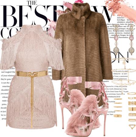Baby Pink & Fur Coat.