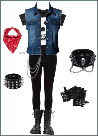 Punk rock teen outfit