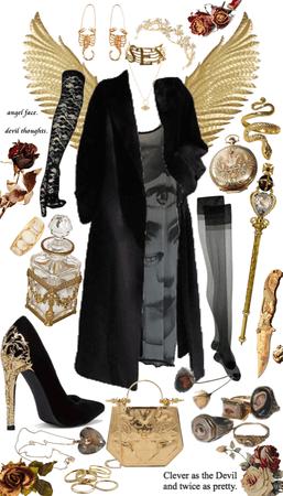 gold and black goddess