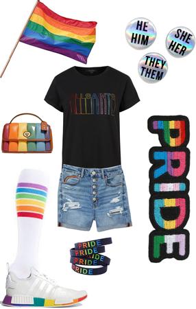 LGBTQ Rainbow pride outfit