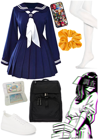 Simple Japanese schoolgirl