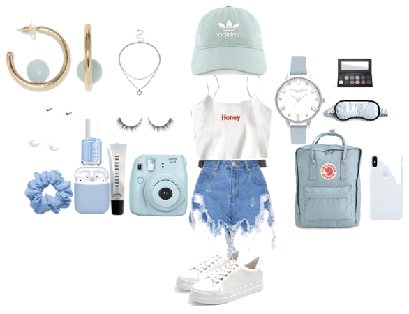 Blue Aesthetic Soft Girl outfit