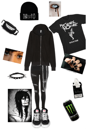 Jeff the killer emo outfit