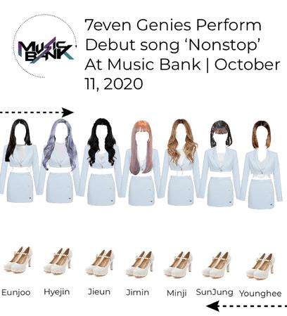 7even Genies Perform debut song 'Nonstop' at Music Bank | Otctober 11, 2020