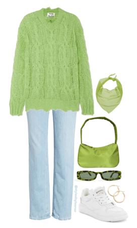 Casual Trendy Green Look