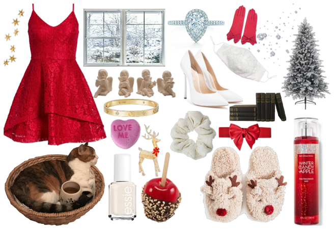 Winter Candy Apple as a person <3