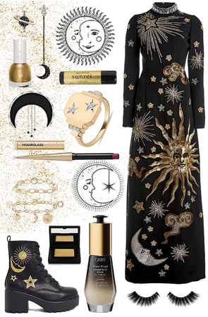 Black and Gold Celestial