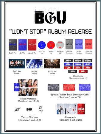 "BGU ""Won't Stop"" Album Release"