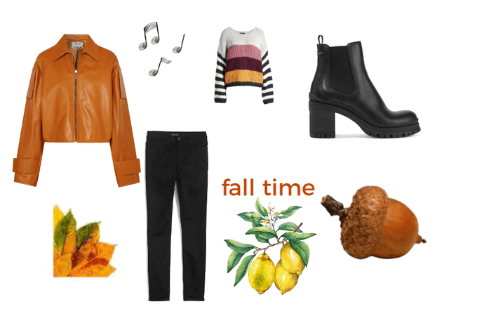 fall time girl