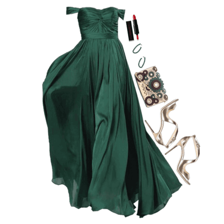 Green Dress in Prom