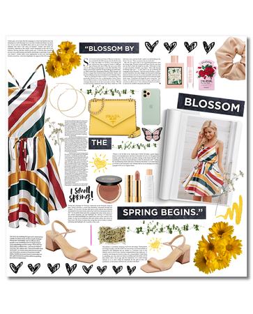 Spring Midi Dress - Warm Glow