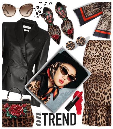 Leather & leopard trend