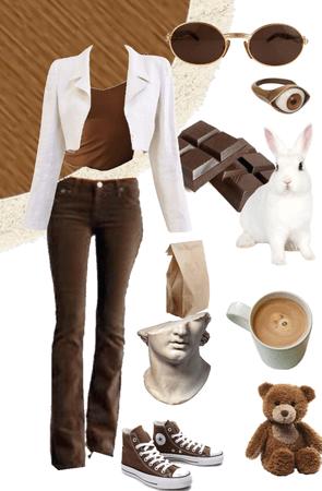 brown & white