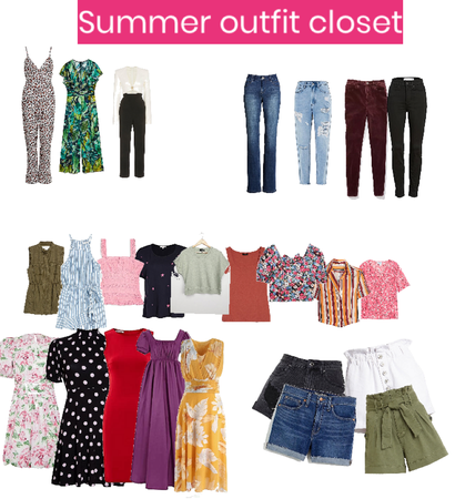 summer outfit  closet