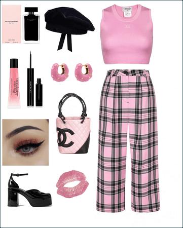 pink,black