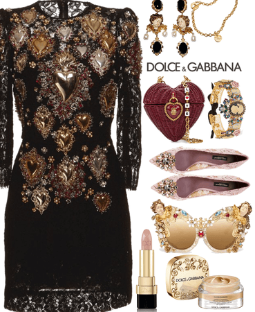 Desugner head to toe Dolce and Gabbna
