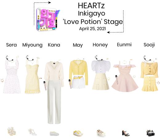 {HEARTz} 'Love Potion' Inkigayo Stage