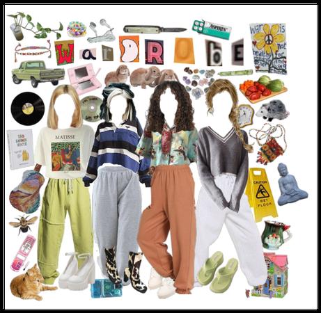 girls in sweatpants - wardrobe