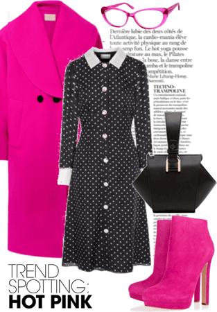 hot pink polka dot