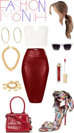 Pencil skirt & bustier