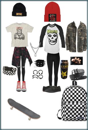Skater emo punk grunge outfit