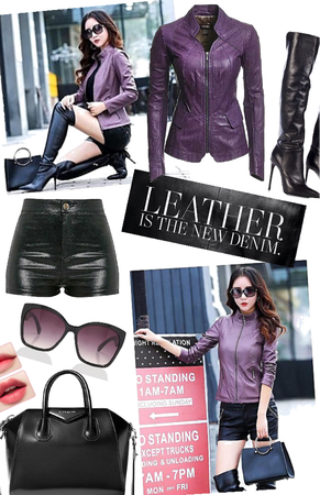Leather Everything: Splash of Purple 🕶😈