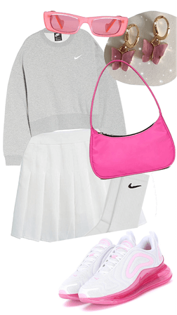 pink tennis outfit