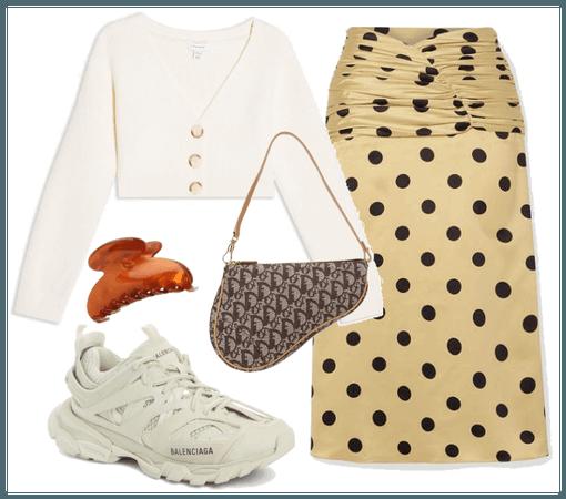 cardigan + maxi skirt
